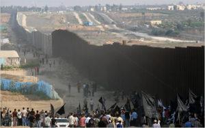 Muro apartheid entre Egipto y Gaza