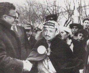 Allende y Arafat junto a su pueblo palestino-mapuche en 1972