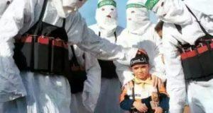 Palestinos en Gaza celebrando fiesta de disfraces con sus amados niños