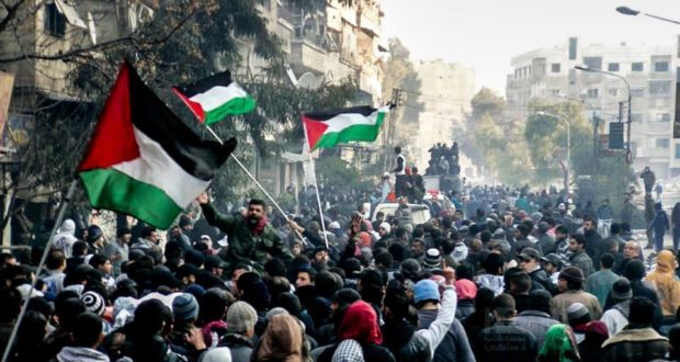 yarmouk-protest
